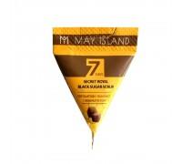 скраб для лица с коричневым сахаром и медом в пирамидках Seven Days Secret Royal Black Sugar Scrub May Island