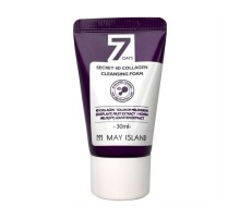 Очищающая пенка с коллагеном May Island 7 Days Secret 4D Collagen Cleansing Foam, 30 мл