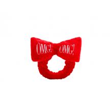 ПОВЯЗКА КОСМЕТИЧЕСКАЯ ДЛЯ ВОЛОС КРАСНАЯ DOUBLE DARE OMG! hair band - red