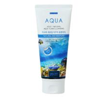Пенка для умывания с аквамарином JIGOTT  Natural Aqua Foam Cleansing 180мл
