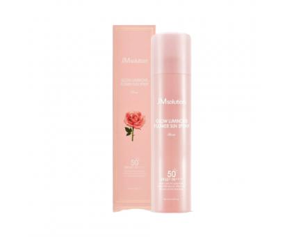Омолаживающий солнцезащитный спрей с розой JMsolution Glow Luminous Flower Sun Spray SPF50+ PA++++