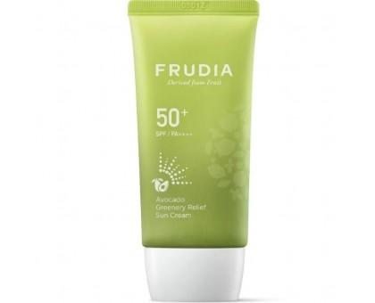 Солнцезащитный восстанавливающий крем с авокадо FRUDIA avocado greenery relief sun cream SPF50 + PA ++++