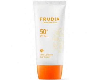 Солнцезащитная тональная крем-основа Frudia Tone Up Base Sun Cream Spf50+ Pa+++