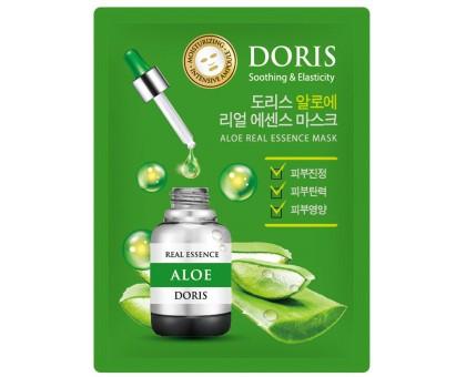 Тканевая маска для лица с экстрактом алоэ Aloe Real Essence Mask Doris
