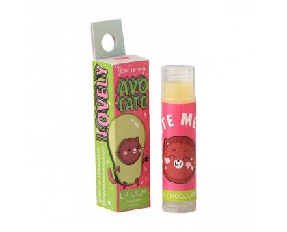 Бальзам для губ Avocato Beauty FOX с маслом Ши, аромат шоколад