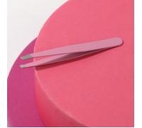 Пинцет для бровей, металл, цвет розовый