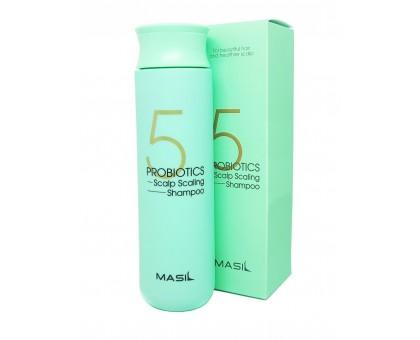 Глубокоочищающий шампунь с пробиотиками Masil 5 Probiotics Scalp Scaling Shampoo