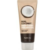 Пилинг-гель с экстрактом кокоса FarmStay Deep Clear Peeling Gel Real Coconut