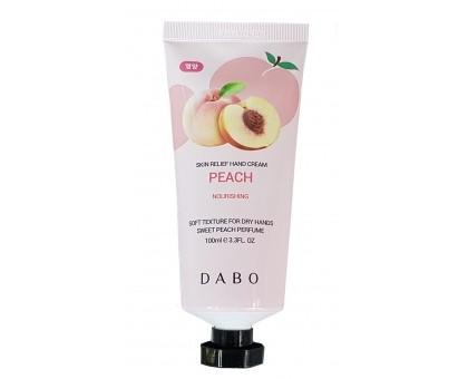 Питательный крем для рук с экстрактом персика Dabo Skin Relief Hand Cream Peach 100 мл