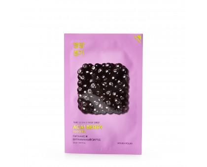 Маска тканевая витаминизирующая Пьюр Эссенс, ягоды асаи / Pure Essence Mask Sheet Acai Berry 23 мл