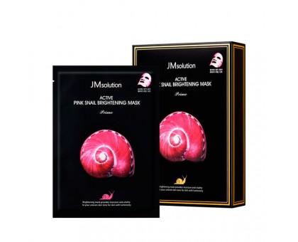 Ультратонкая маска с муцином улитки JMsolution Active Pink Snail Brightening Mask Prime