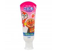 Зубная паста для детей слабообразивная Strawberry - клубника LION Kid's Toothpaste 40 мл