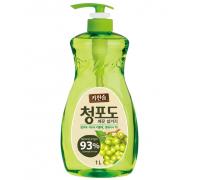 Корейское средство для мытья посуды, овощей и фруктов  Зеленый виноград MUKUNGHWA 1000 мл