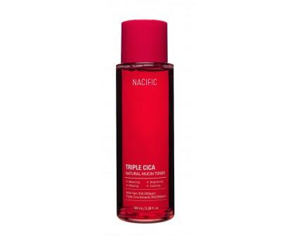 Увлажняющий тонер с растительным муцином и центеллой Nacific Triple Cica Natural Mucin Toner, 100 ml