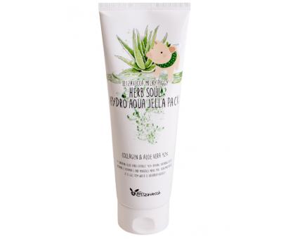 Увлажняющая маска-гель для лица и тела с алоэ и коллагеном Elizavecca Milky Piggy Herb Soul Hydro Aqua Jella Pack, 250 ml