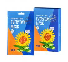 Успокаивающая маска с маслом подсолнуха и экстрактом алоэ Sunflower & Aloe Everyday Mask Dearboo, 27 gr