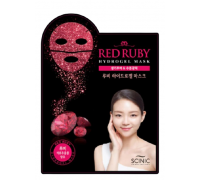 Рубиновая гидрогелевая маска для лица с экстрактом граната Scinic Red Ruby Hydrogel Mask, 28 гр