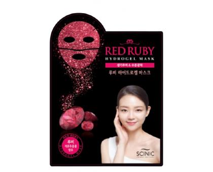 Рубиновая гидрогелевая маска для лица с экстрактом граната Scinic Red Ruby Hydrogel Mask, 28 гр