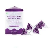 Содовый скраб в пирамидках Mizon Collagen Milky Peeling Scrub, 7 гр