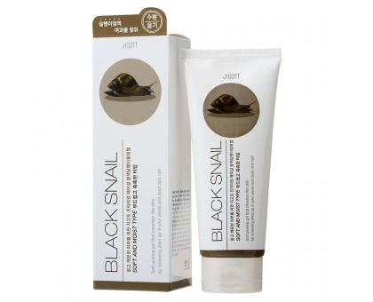 Пилинг-гель с муцином улитки Jigott Premium Facial Black Snail Peeling Gel, 180 мл