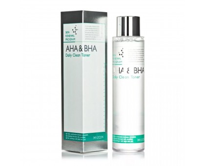 Тоник-пилинг с фруктовыми кислотами Mizon AHA & BHA Daily Clean Toner, 150 ml