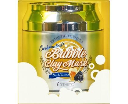 Маска для лица очищающая ПУЗЫРЬКОВАЯ ESTHETIC HOUSE Esthetic Formula Carbonated Bubble Clay Mask, 80 мл