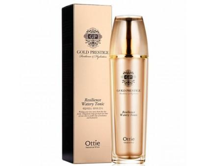 Увлажняющий тонер для упругости кожи Ottie Gold Prestige Resilience Watery Tonic, 120 ml
