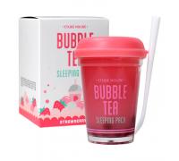 Ночная маска Etude House Bubble Tea Sleeping Pack - Strawberry 100 мл