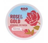 Гидрогелевые патчи для глаз Роза и Золото Dearboo Rose And Gold Hydrogel Eye Patch 60 штук в упаковке (30 пар)
