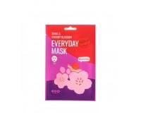 Тканевая Маска Для сияния кожи Dearboo Snail And Cherry Blossom Mask