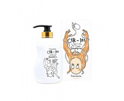Шампунь для волос с коллагеном Elizavecca CER-100 Collagen Coating Hair Muscle Shampoo 500 ml