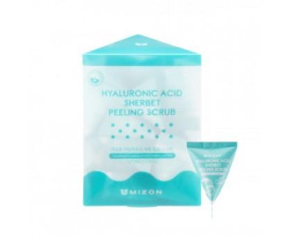 Скраб-пилинг для лица гиалуроновый Mizon Hyaluronic Sherbet Peeling Scrub, 7 гр