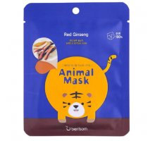 Тканевая маска с женьшенем Berrisom Animal mask series - Tiger 25мл