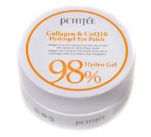 Гидрогелевые патчи с коллагеном Petitfee Collagen&CoQ10 Hydrogel Eye Patch 60 штук (30 пар)