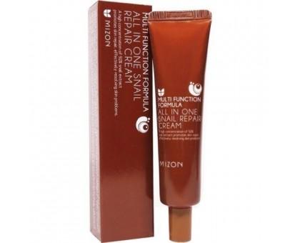 Антивозрастной крем для лица с муцином  улитки 92 Mizon All In One Snail Repair Cream 35ml