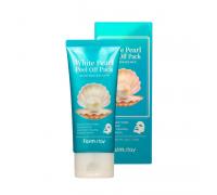 Маска-плёнка для сияния кожи FarmStay White Pearl Peel Off Pack