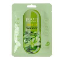 JIGOTT  Тканевая маска для лица ЗЕЛЕНЫЙ ЧАЙ GREEN TEA Real Ampoule Mask, 27 мл