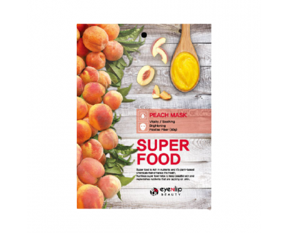 Тканевая маска для лица с экстрактом персика Super Food Peach Mask, 23 gr