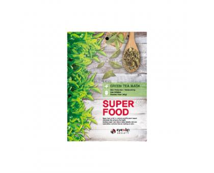 Тканевая маска для лица с экстрактом зеленого чая Super Food Green Tea Mask, 23 gr
