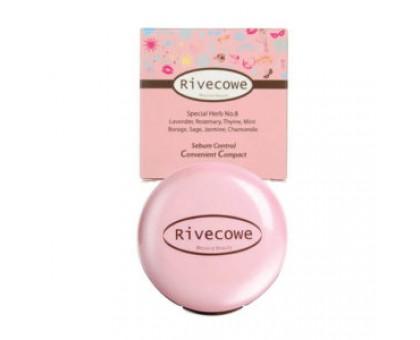 Матирующая пудра для лица Rivecowe Sebum Control Convenient Compac 9  мл