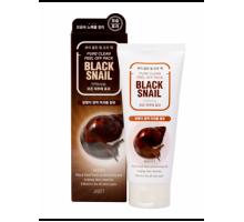 Маска-плёнка для лица с муцином черной улитки JIGOTT  BLACK SNAIL Pure Clean Peel Off Pack, 180 мл
