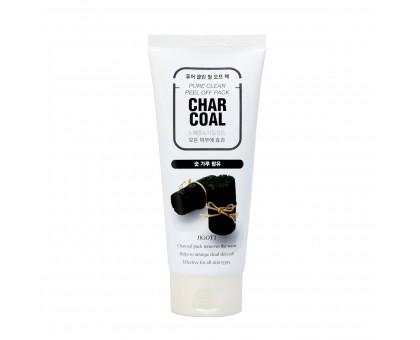 Маска-плёнка для лица с углем JIGOTT CHARCOAL Pure Clean Peel Off Pack, 180 мл