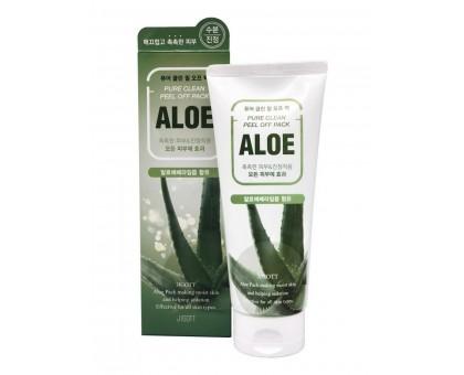 Маска-плёнка для лица на основе экстракта алоэ JIGOTT Aloe Pure Clean Peel Off Pack, 180 мл