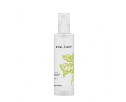 Тонер для лица DEOPROCE REAL FRESH VEGAN CALMING TONER, 210 ml