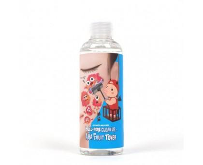 Тоник-пилинг с фруктовыми кислотами Elizavecca Hell-Pore Clean Up Aha Fruit Toner, 200 ml