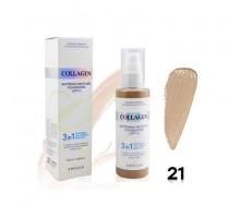 Тональный крем с коллагеном 3 в 1 для сияния кожи - Enough Collagen Whitening Moisture Foundation SPF 15, 100 gr
