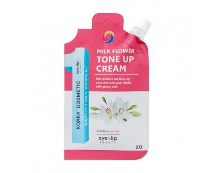 Крем осветляющий для выравнивания тона кожи EYENLIP Milk Flower Tone Up Cream 25 мл