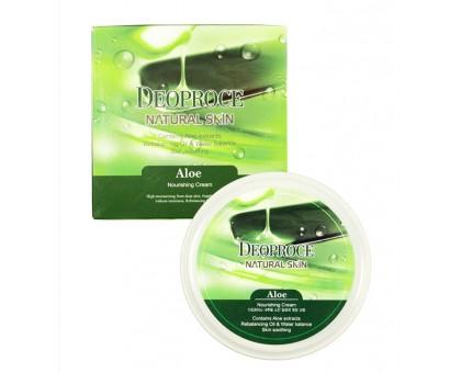 Крем для лица и тела с экстрактом сока алое Deoproce Natural Skin Aloe Nourishing Cream 100 мл