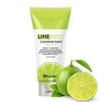 Очищающая пенка Secret Skin Lime Fizzy Cleansing Foam 120 мл
