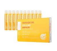 Витаминизирующий филлер для волос с витаминами FarmStay Derma Сube Vita Clinic Hair Filler 13 мл
